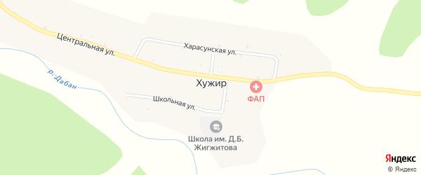 Улица Буса на карте улуса Хужир с номерами домов