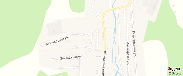 Октябрьская улица на карте Закаменска с номерами домов