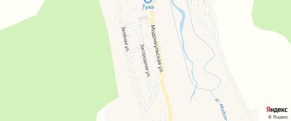 Загородная улица на карте Закаменска с номерами домов
