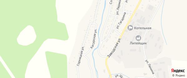 Хасурская улица на карте Закаменска с номерами домов