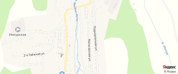 Малагарская улица на карте Закаменска с номерами домов