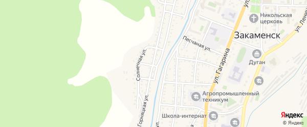 Горняцкая улица на карте Закаменска с номерами домов