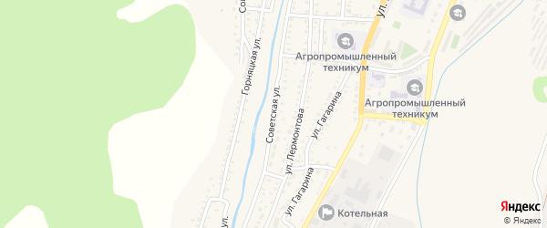 Советская улица на карте Закаменска с номерами домов