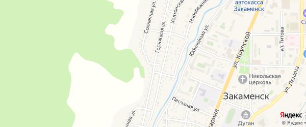 Солнечная улица на карте Закаменска с номерами домов