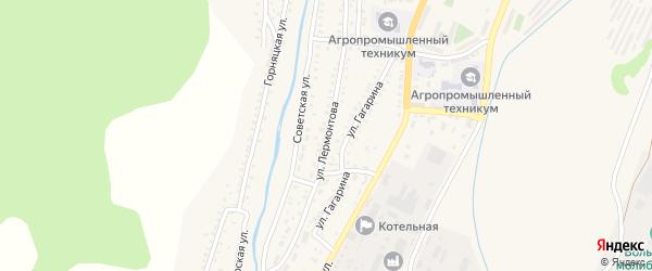 Улица Лермонтова на карте Закаменска с номерами домов