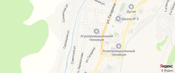 Профсоюзный 3-й переулок на карте Закаменска с номерами домов
