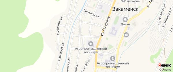 Профсоюзный 2-й переулок на карте Закаменска с номерами домов