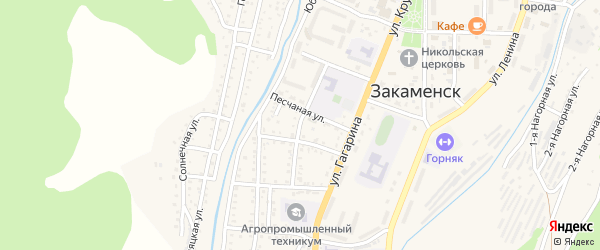 Улица Тимошенко на карте Закаменска с номерами домов