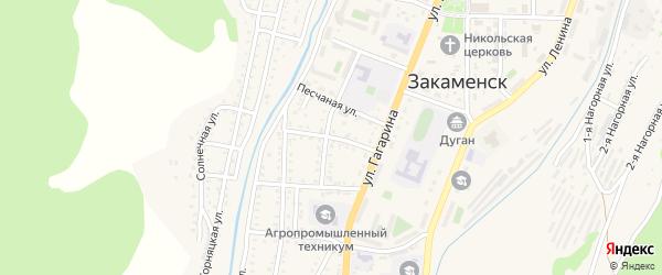 Профсоюзный 1-й переулок на карте Закаменска с номерами домов