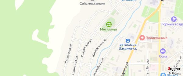 Холтонская улица на карте Закаменска с номерами домов