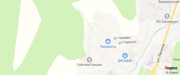 Коммунистическая улица на карте Закаменска с номерами домов