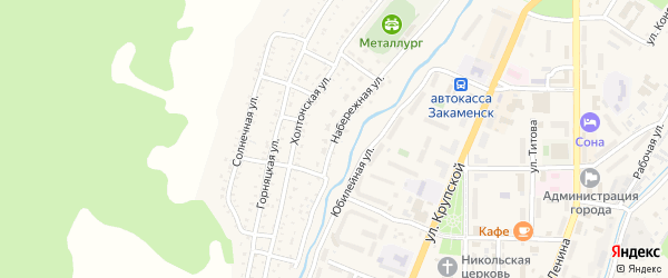 Набережная улица на карте Закаменска с номерами домов