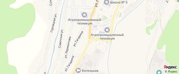 Улица Гагарина на карте Закаменска с номерами домов