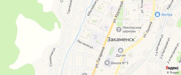 Заречная улица на карте Закаменска с номерами домов