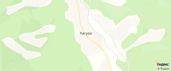 Карта поселка Хасуры в Бурятии с улицами и номерами домов