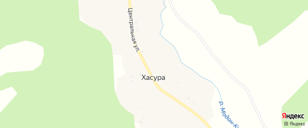Ягодная улица на карте поселка Хасуры с номерами домов