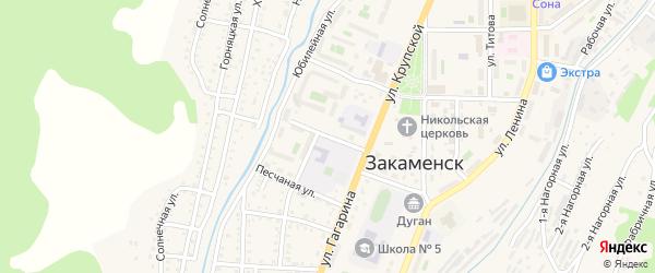 Строительная улица на карте Закаменска с номерами домов
