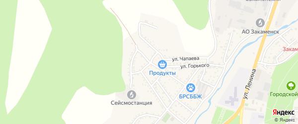 Улица Суворова на карте Закаменска с номерами домов