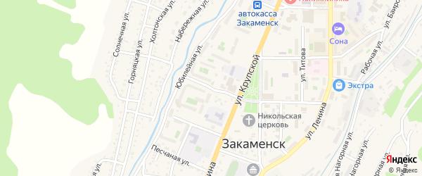 Заречная 1-я улица на карте Закаменска с номерами домов