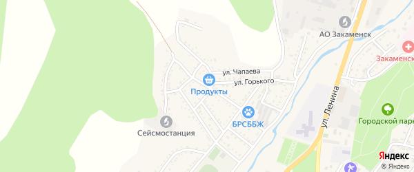 Улица Бабушкина на карте Закаменска с номерами домов