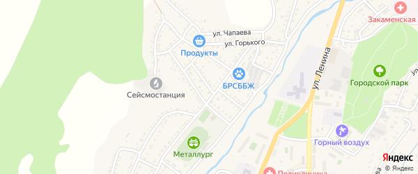 Первомайская улица на карте Закаменска с номерами домов