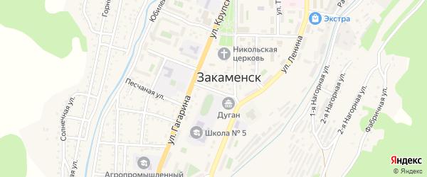 Комсомольская улица на карте Закаменска с номерами домов