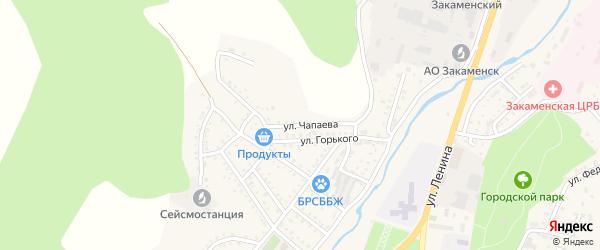 Улица Чапаева на карте Закаменска с номерами домов