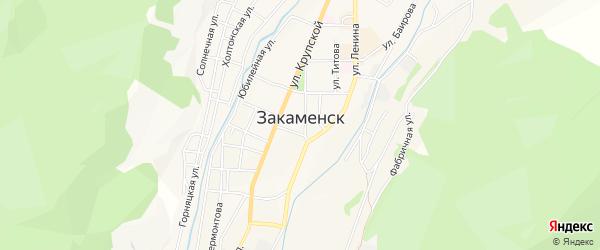 Карта территории ДНТ Горняка города Закаменска в Бурятии с улицами и номерами домов