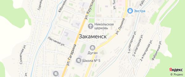 Заводская улица на карте Закаменска с номерами домов