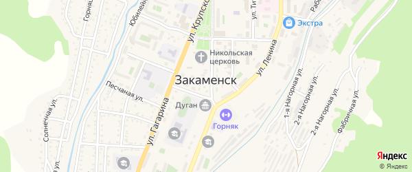 Улица Пушкина на карте Закаменска с номерами домов