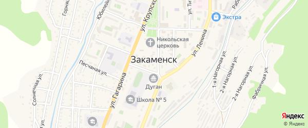 Таежная 1-я улица на карте Закаменска с номерами домов