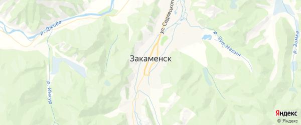 Карта Закаменска с районами, улицами и номерами домов
