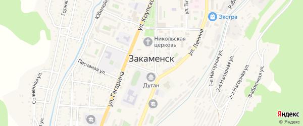 9-я линия на карте территории ДНТ Горняка с номерами домов