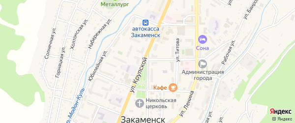 Улица Крупской на карте Закаменска с номерами домов