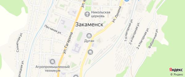 Улица Ленина на карте Закаменска с номерами домов