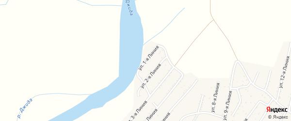 1-я линия на карте территории ДНТ Горняка с номерами домов