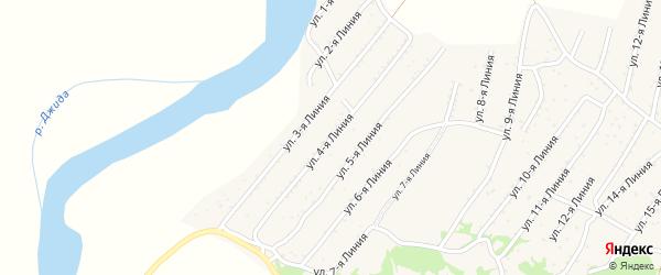 4-я линия на карте территории ДНТ Горняка с номерами домов