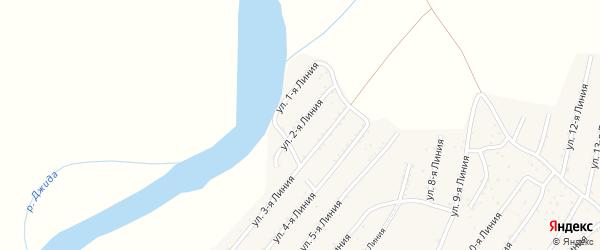 2-я линия на карте территории ДНТ Горняка с номерами домов