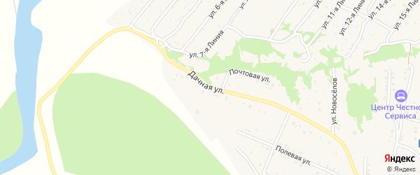 Дачная улица на карте Закаменска с номерами домов