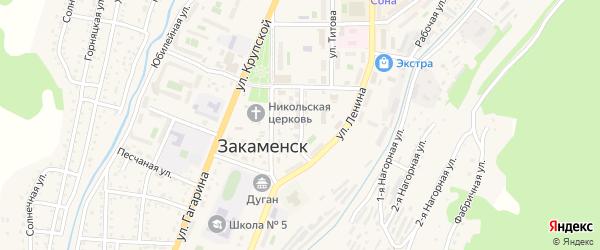 Улица Кирова на карте Закаменска с номерами домов