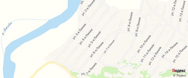 5-я линия на карте территории ДНТ Горняка с номерами домов