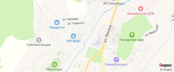 Партизанская улица на карте Закаменска с номерами домов