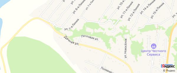 Почтовая улица на карте Закаменска с номерами домов