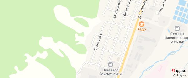 Улица 50-летия Октября на карте Закаменска с номерами домов