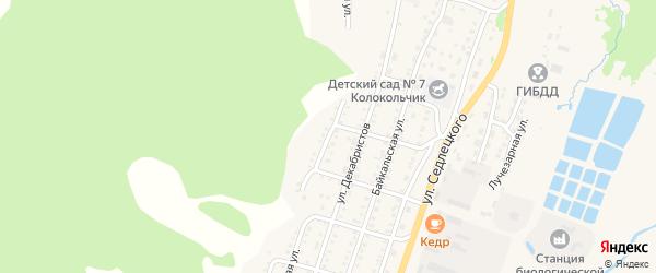 Совхозная 1-я улица на карте Закаменска с номерами домов