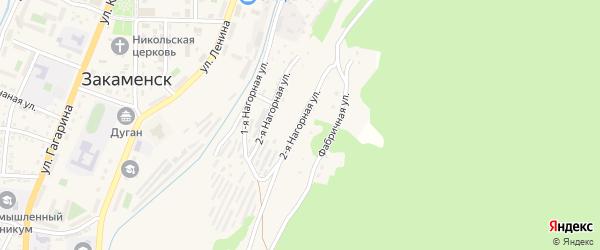 Нагорная улица на карте Закаменска с номерами домов