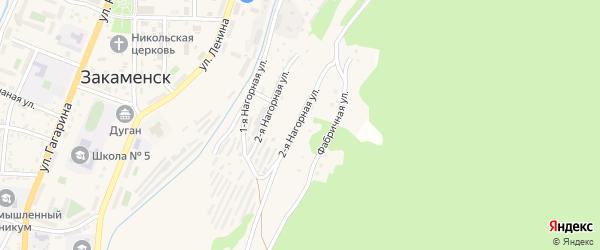 Нагорная 2-я улица на карте Закаменска с номерами домов