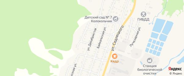 Улица Декабристов на карте Закаменска с номерами домов