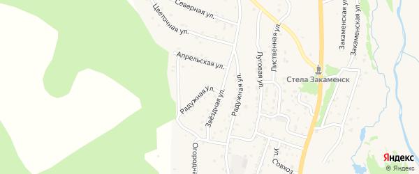 Радужная улица на карте Закаменска с номерами домов