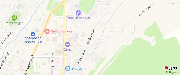 Улица Баирова на карте Закаменска с номерами домов